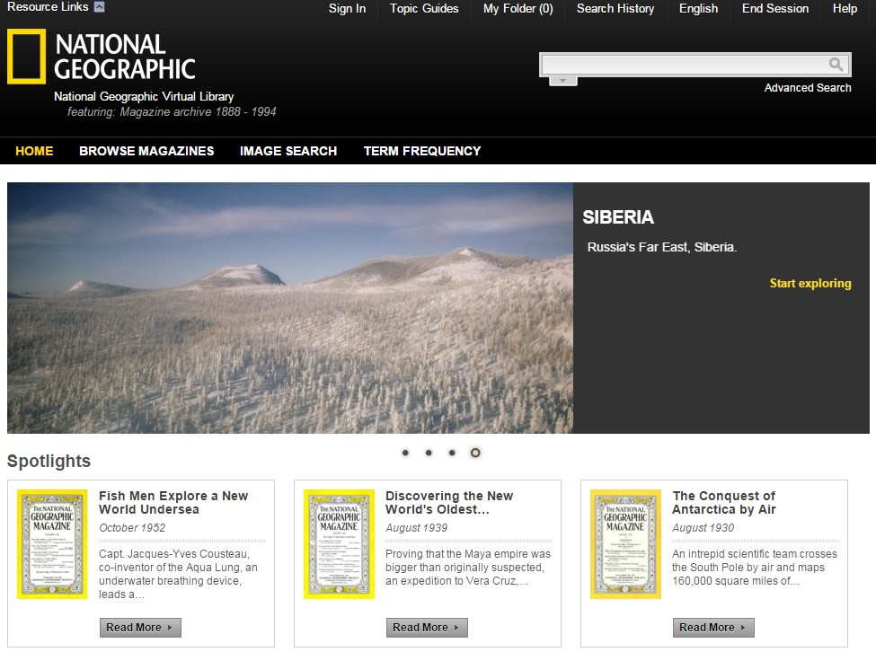 National Geographic Magazine Archive 1888-1994 (國家地理雜誌1888-1994)